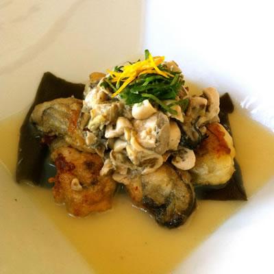 牡蠣のとも和え