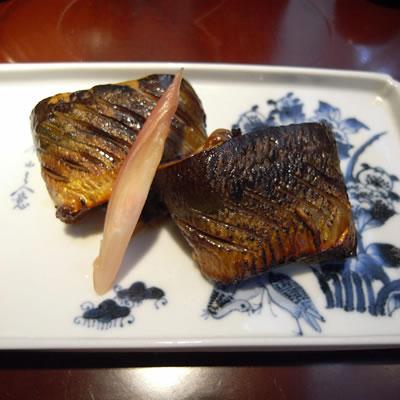 秋刀魚の腸醤油焼き